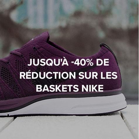 Jusqu'à -40% de réduction sur les baskets Nike