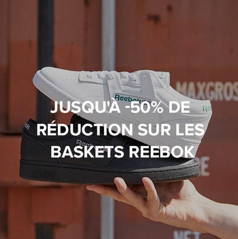 Jusqu'à -50% de réduction sur les baskets Reebok