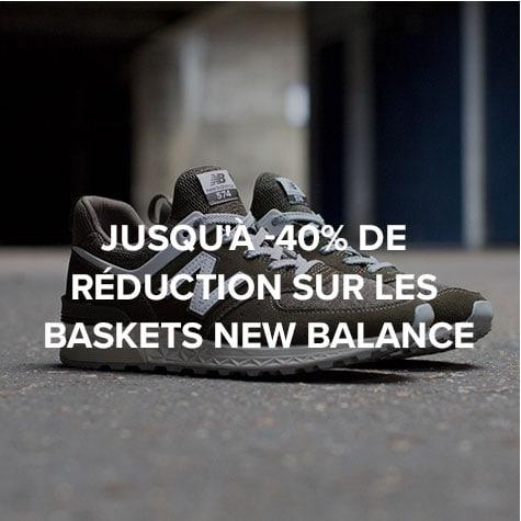 Jusqu'à -40% de réduction sur les baskets New Balance
