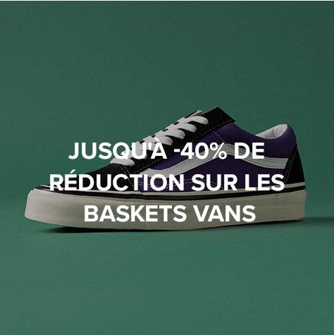 Jusqu'à -40% de réduction sur les baskets Vans