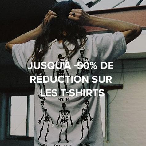 Jusqu'à -50% de réduction sur les T-Shirts