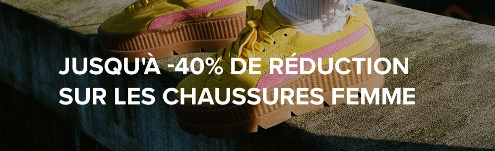 Jusqu'à -40% de réduction sur les chaussures femme
