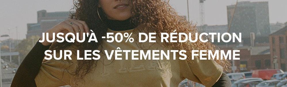 Jusqu'à -50% de réduction sur les vêtements femme