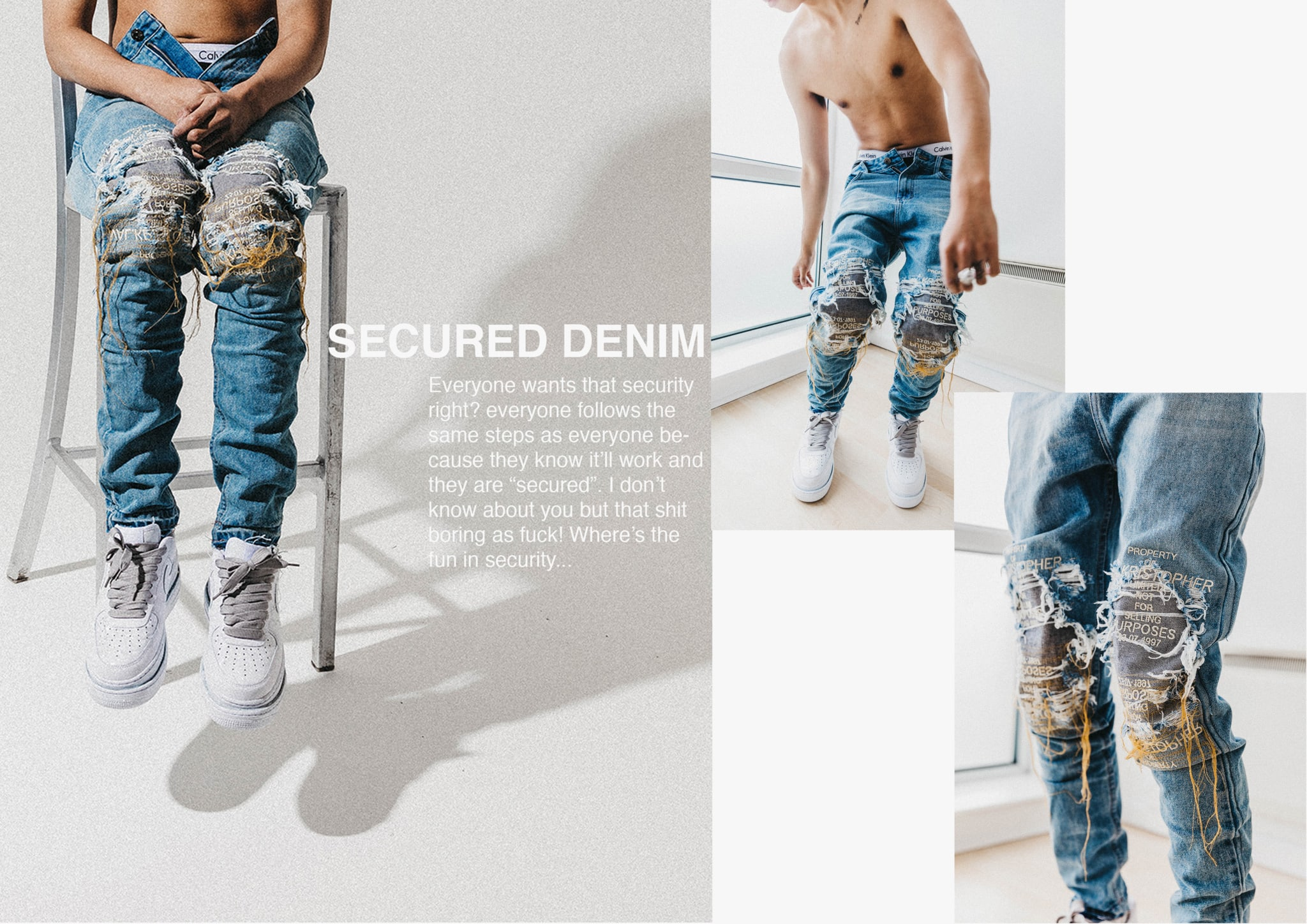 secured denim